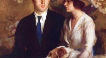 Edmund Charles Tarbell | Mary, Edmund and Sergius, 1920 | Privatbesitz