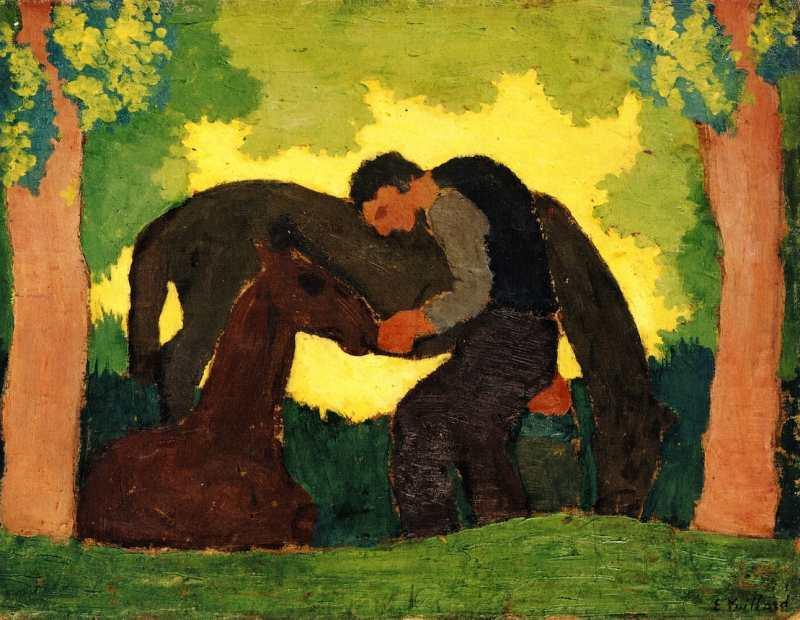 Édouard Vuillard | Man with Two Horses, 1890 | Privatsammlung