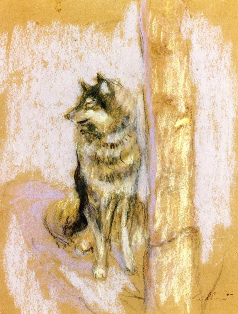 Édouard Vuillard   Wolfhound at Gererdmer  Privatsammlung
