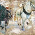 Edvard Munch, Horse Team in Snow, 1921-1922; Munch-museet Oslo