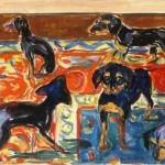 Edvard Munch   Five Puppies on the Carpet, 1919-1921   Munch-museet Oslo