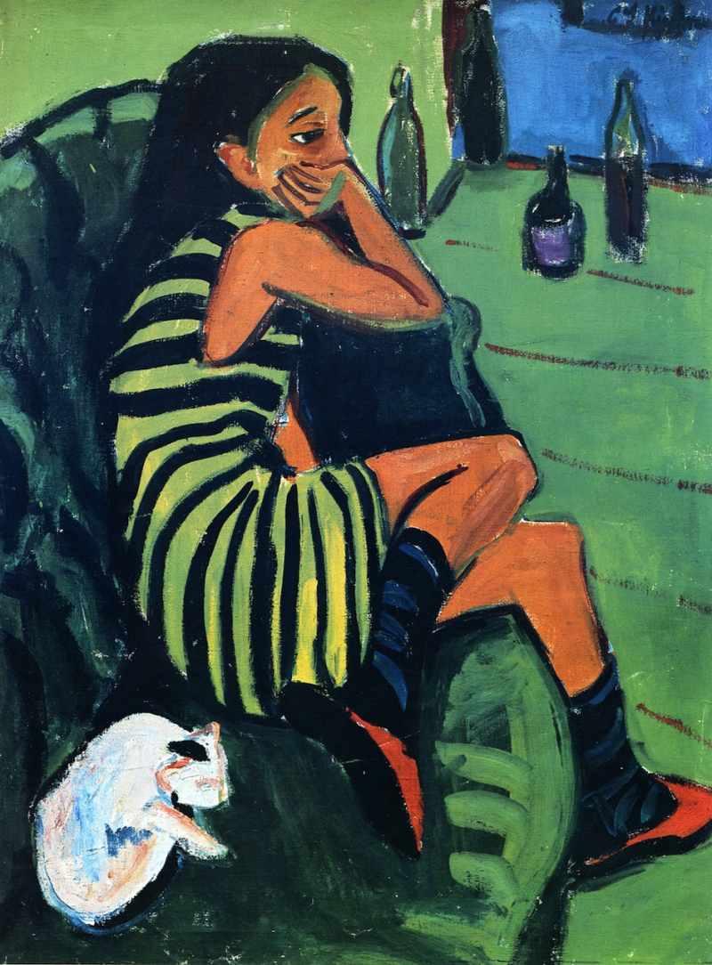 Ernst Ludwig Kirchner, Artistin, 1910; Brücke Museum Berlin