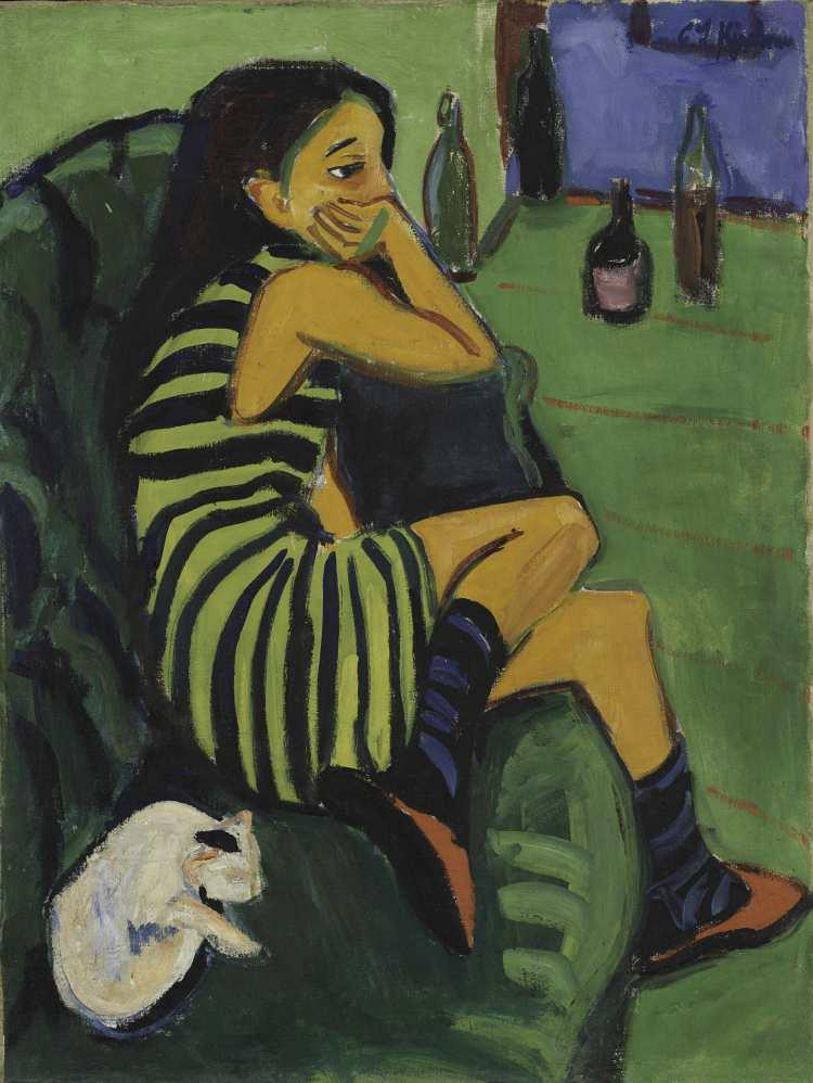 Ernst Ludwig Kirchner, Artistin, 1910, Brücke Museum
