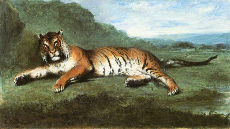 Eugène Delacroix | Tiger | Privatbesitz