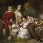 Eugene von Blaas | The Prince of Valmontone with Children, 1851 | Privatbesitz