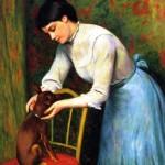 Federico Zandomeneghi | Woman with Dog | Privatbesitz