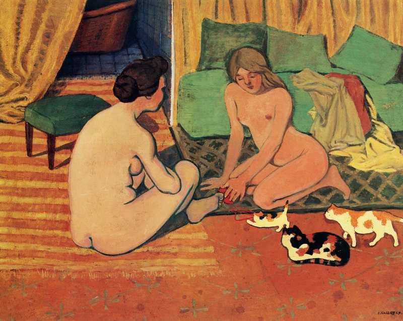 Félix Vallotton | Femmes nues aux chats, ca. 1897-1898 | Musée cantonal des Beaux-Arts, Lausanne