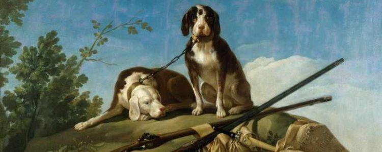Francisco de Goya, Two Dogs on a Leash, 1775 | Museo del Prado, Madrid
