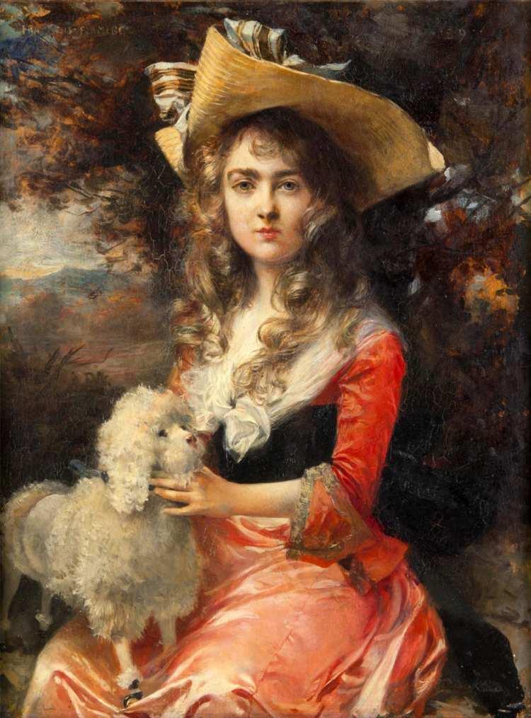 François Flameng | Portrait of Madame Max Decougis