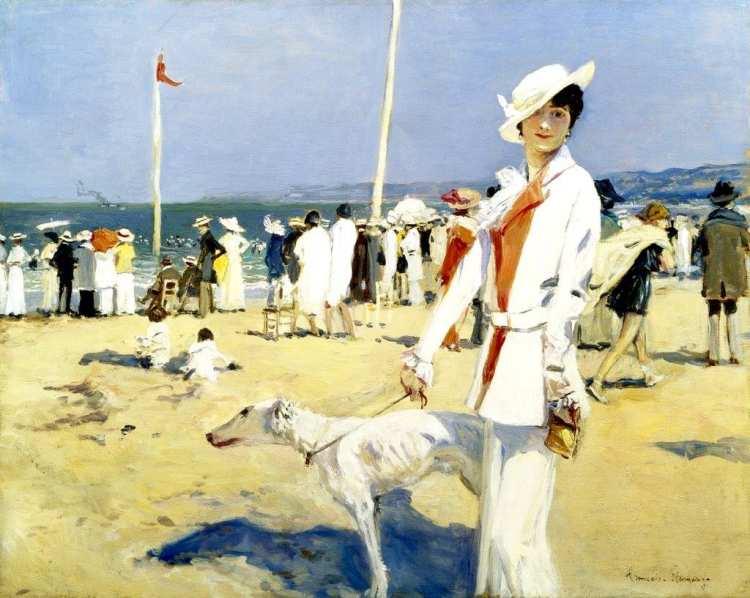 François Flameng | Riviera Promenade