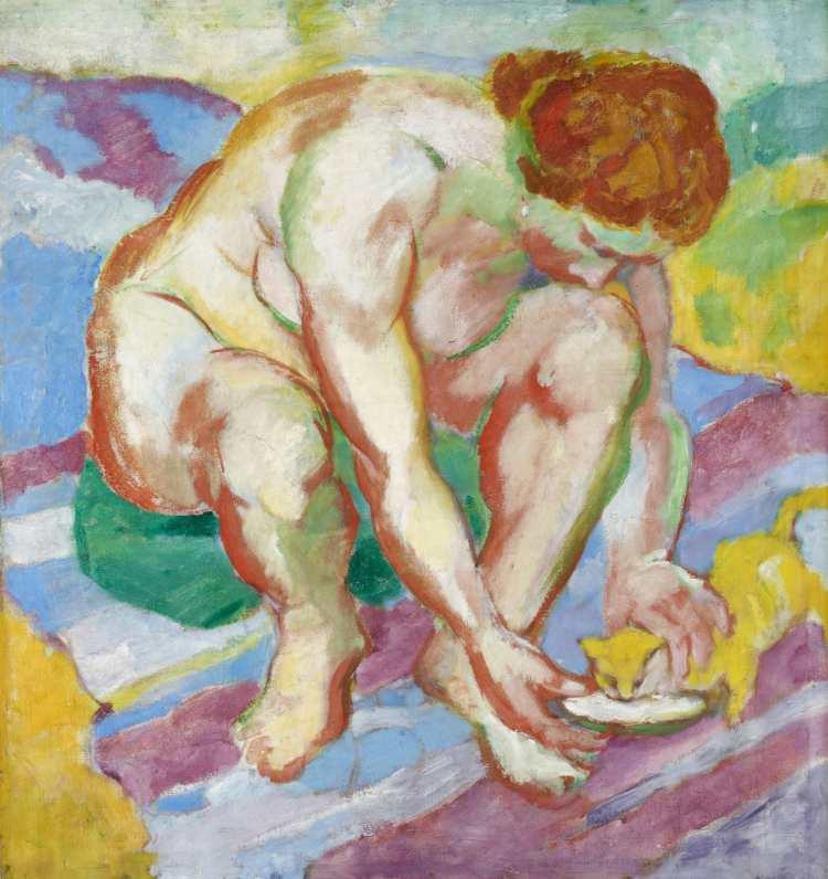 Franz Marc | Akt mit Katze, 1910