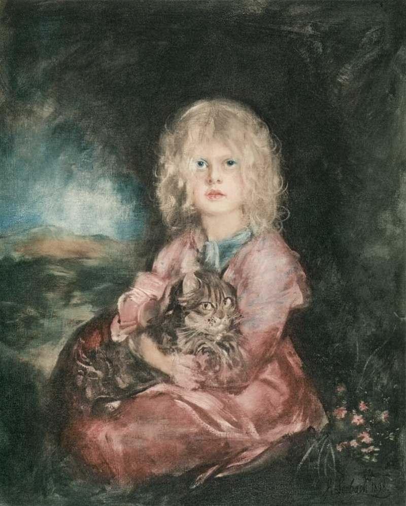 Franz von Lenbach | Marion mit Katze, 1898