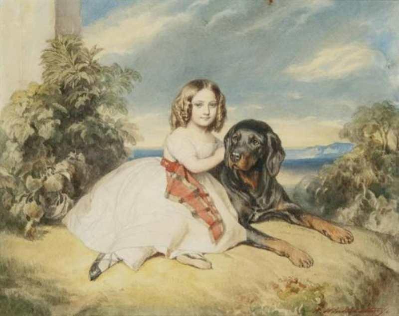 Franz Xaver Winterhalter | Porträt von Mme Virginie de St-Aldegonde, später Duchesse de Rochechouart-Mortemart | Privatbesitz