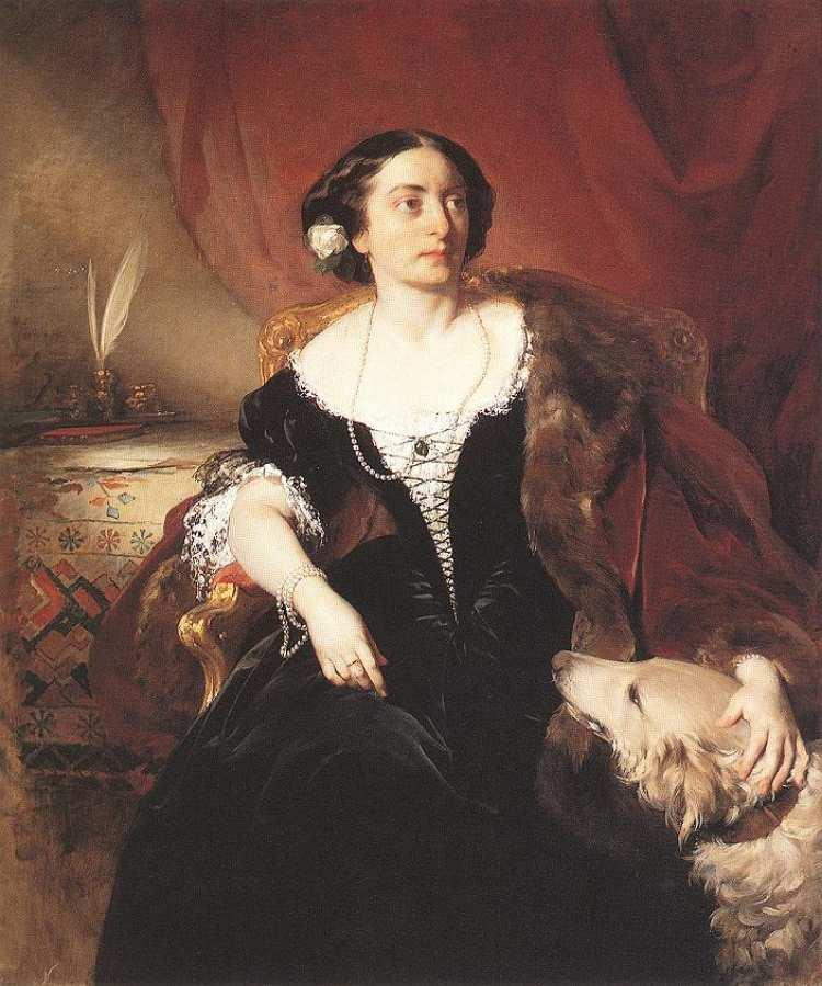 Friedrich von Amerling | Countess Nákó, 1855 | Museum of Fine Arts, Budapest
