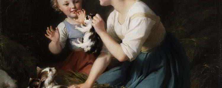 Fritz Zuber-Bühler, Kinder mit Kätzchen (Ausschnitt)