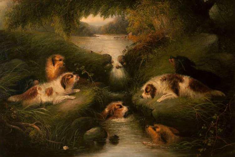 George Armfield | Otter Hunt, 1869