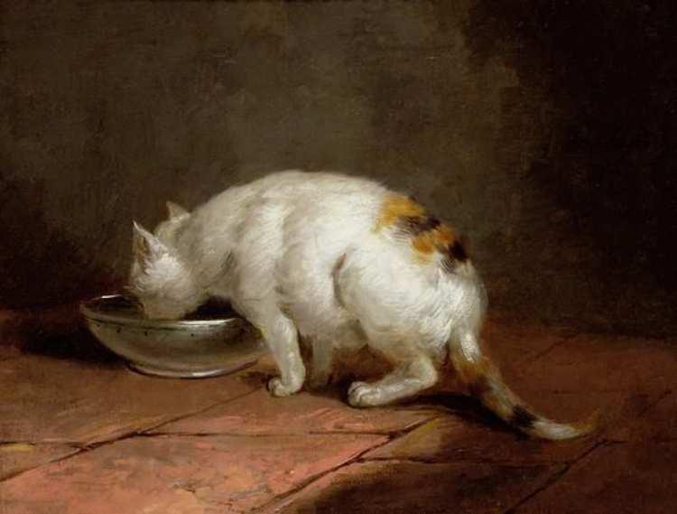 George Morland | Trinkende Katze
