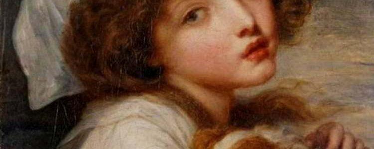 Jean-Baptiste Greuze | Junges Mädchen mit Spaniel