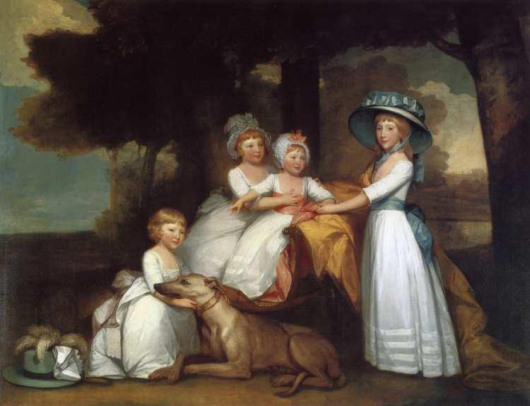 Gilbert Stuart   The Children of the Second Duke of Northumberland, 1787