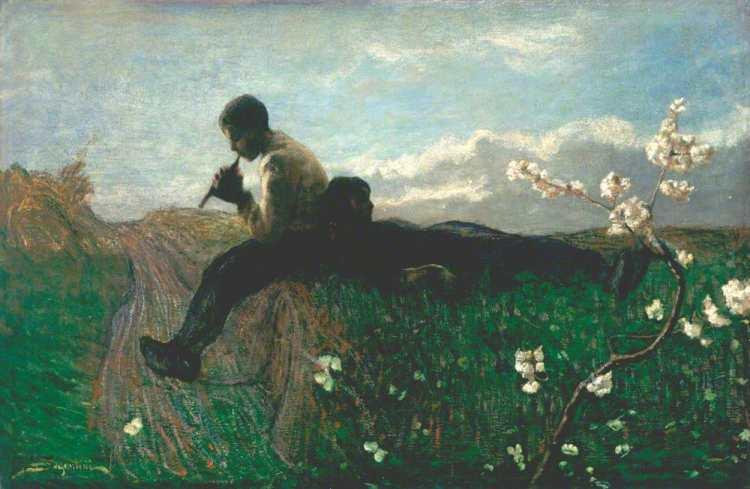 Giovanni Segantini | An Idyll, 1882-83