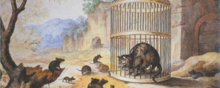 Gottfried Mind | Katze in einem Käfig