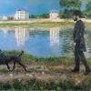 Gustave Caillebotte | Richard Gallo und sein Hund bei Petit-Gennevilliers, 1884 | Privatsammlung