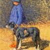 Henri Martin | Girl and Dog