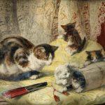 Henriëtte Ronner-Knip | Spielende Kätzchen