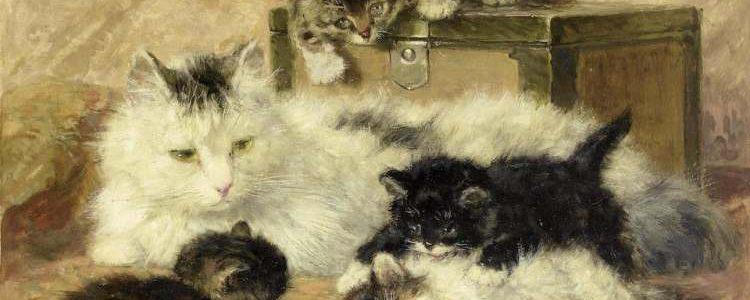 Henriëtte Ronner-Knip | Glückliche Katzenmutter