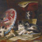 Henriëtte Ronner-Knip | Playing Kittens