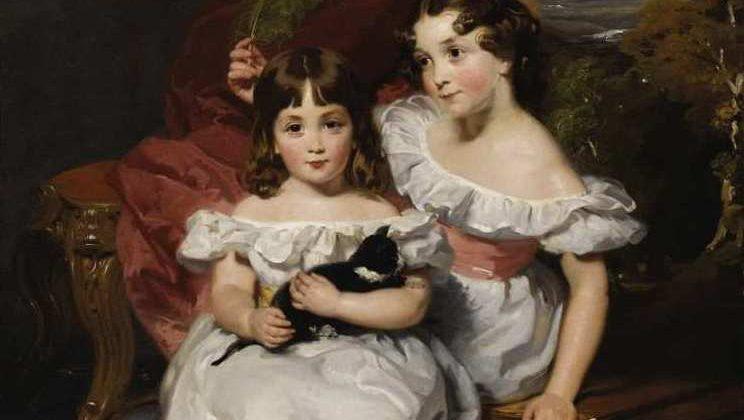 Henry Wyatt | Girl with Kitten, 1834 (Detail)