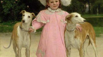 Jan van Beers | Mädchen mit zwei Hunden