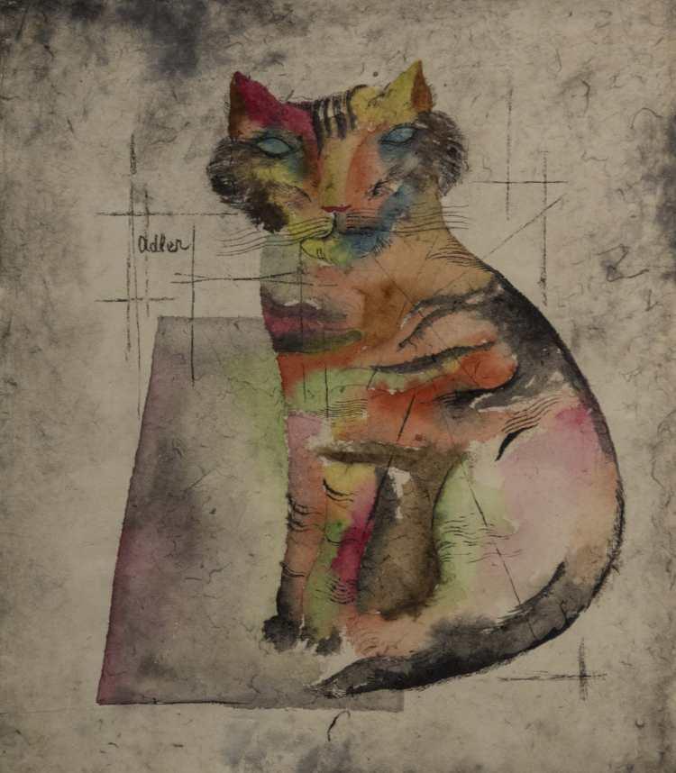 Jankel Adler | Katze | Photo credit: Von der Heydt-Museum Wuppertal