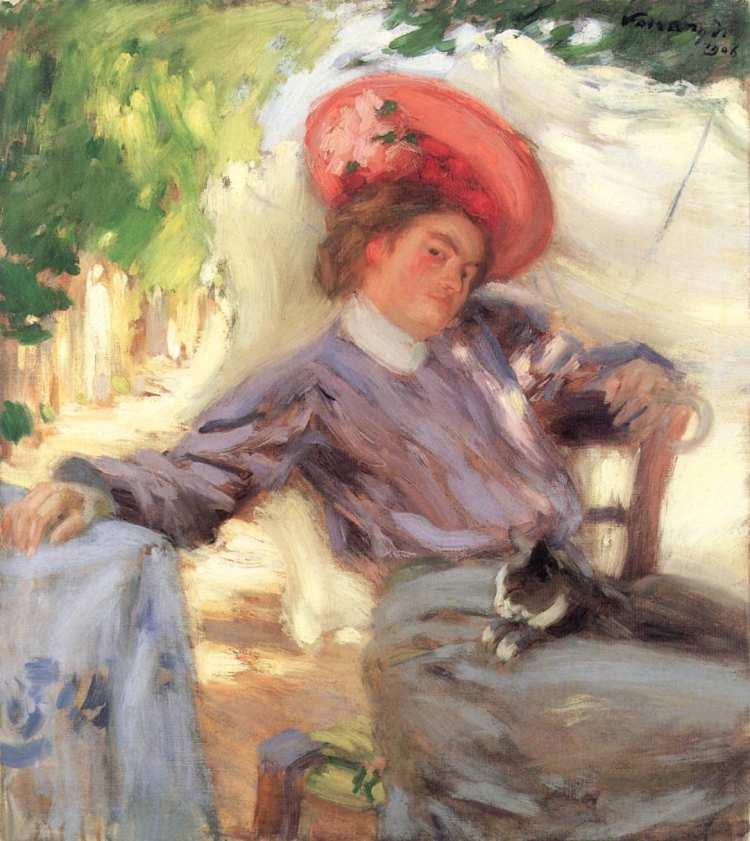 János Vaszary | Woman with Cat, 1916