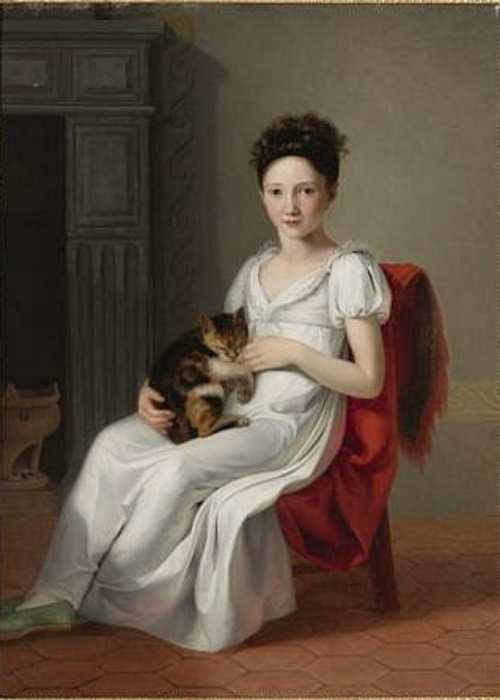 Jeanne-Elisabeth Chaudet | Porträt eines Mädchens mit Katze