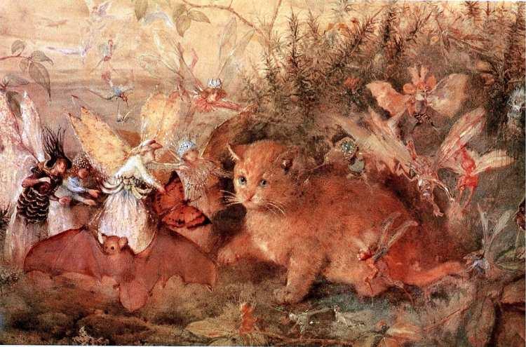 John Anster Christian Fitzgerald | Cat amongst fairies