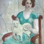 John Christopher Wood  Woman with Dog
