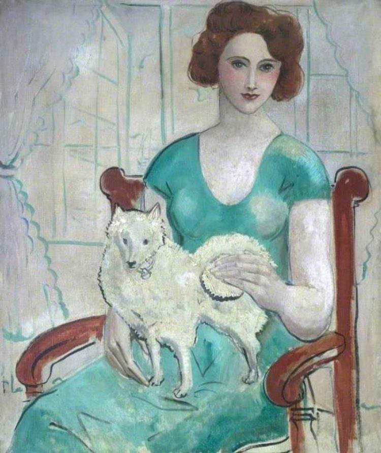 John Christopher Wood | Woman with Dog