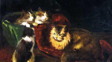 Joseph Kleitsch | The Angora Cats, 1912 | Privatbesitz
