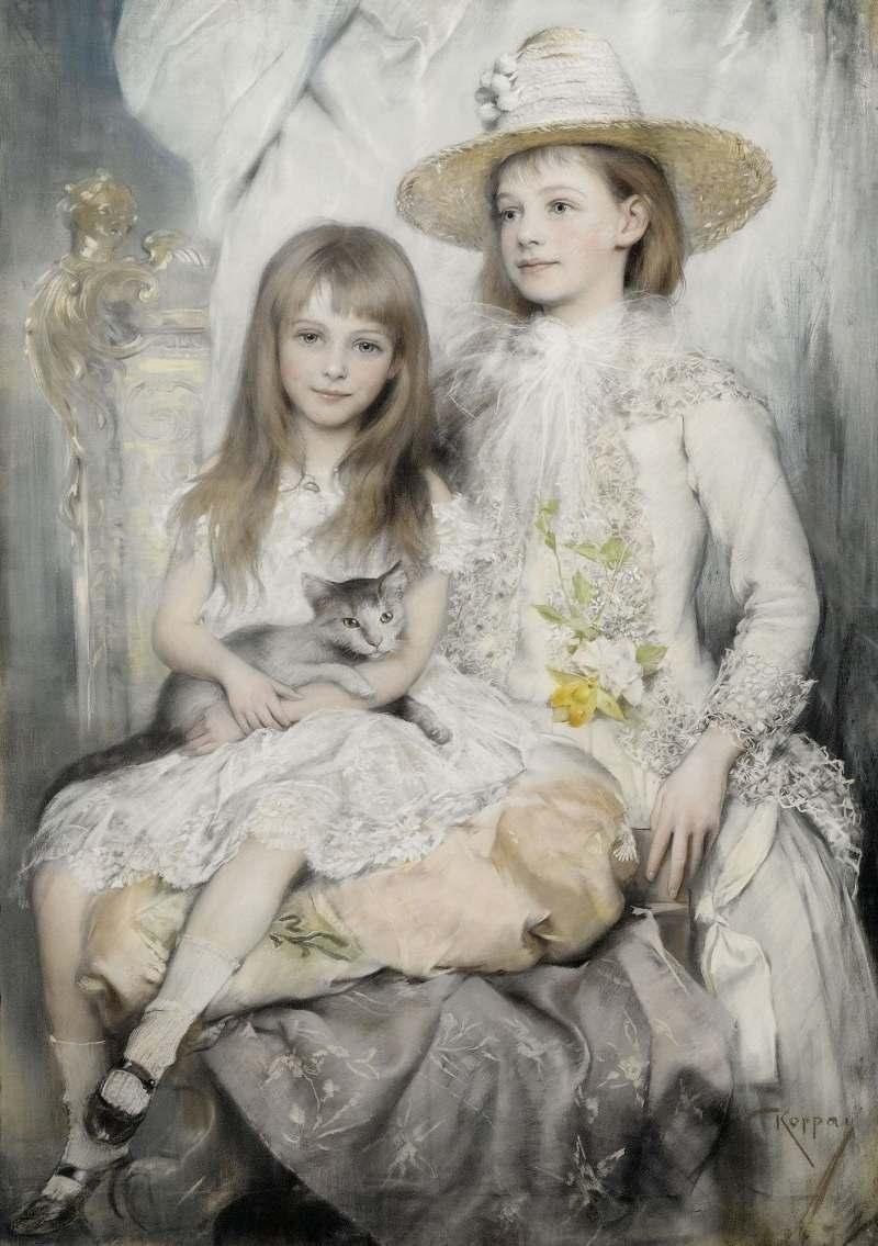 Josef Arpád Koppay | Porträt zweier Mädchen, um 1927