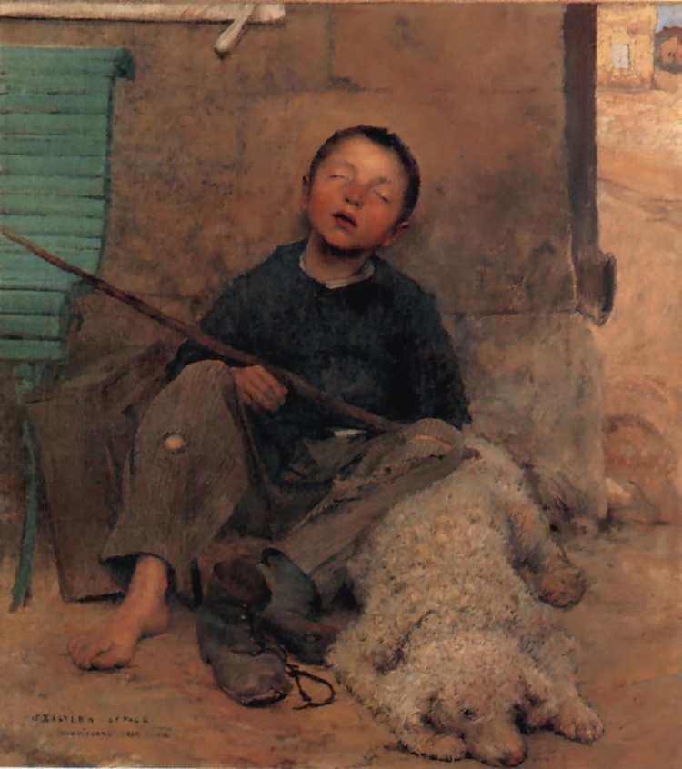 Jules Bastien-Lepage | Der blinde Bettler | Musée des Beaux-Arts de Tournai