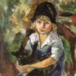 Jules Pascin | Little Girl with Cat (Detail), 1917 | Privatbesitz