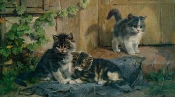 Julius Adam | Drei spielende Kätzchen