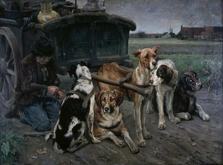 Karl Kristian Uchermann | Flämische Hunde, 1880