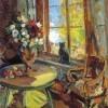 Konstantin Korovin | Schwarze Katze auf einer Fensterbank, 1902