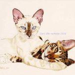 Zwei Schönheiten, 2015 | Tusche auf Papier | © Lilla Varhelyi