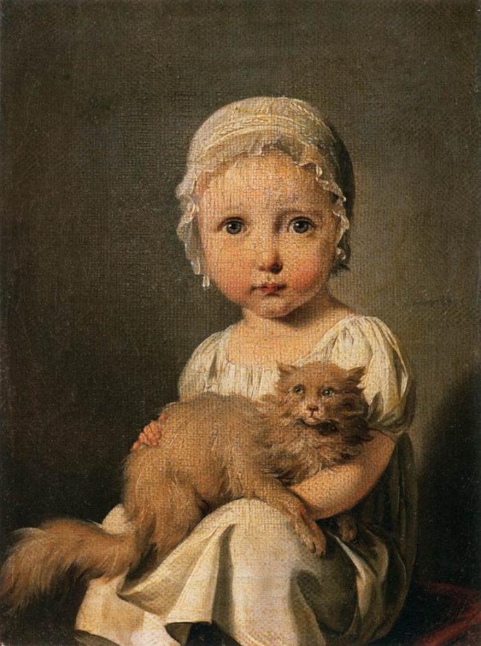 Louis-Léopold Boilly | Portrait Gabrielle Arnault als Kind, 1815 | Musee du Louvre, Paris