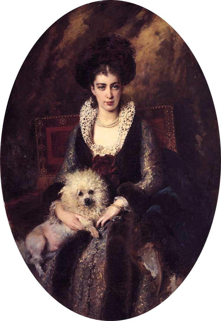 Konstantin Makovsky | Portrait of Maria Makovskaya