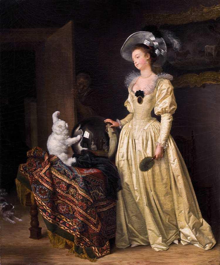 Marguerite Gérard / Jean-Honoré Fragonard | Le chat angora, o.J.