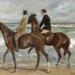 Max Liebermann | Zwei Reiter am Strand, 1901